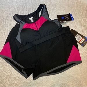 Sports bra and biker short matching set